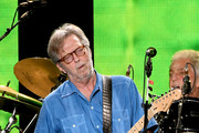 Musician Eric Clapton performs at The Forum on September 18, 2017 in Inglewood, California.