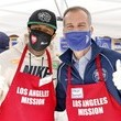 Eric Garcetti Los Angeles Mission Serves Easter Meal To The Homeless