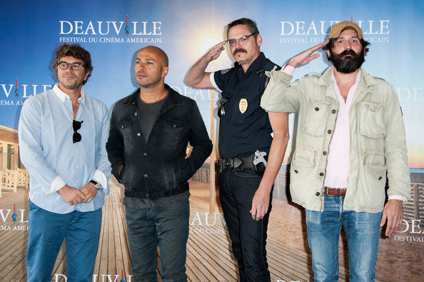 'Wrong Cops' Photocall - The 39th Deauville Film Festival [wrong cops photocall - the 39th deauville film festival,film,fun,jeans,event,denim,facial hair,movie,gregory bernard,quentin dupieux,actors,eric judor,mark burnham,l-r,photocall,film festival]