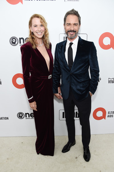 28th Annual Elton John AIDS Foundation Academy Awards Viewing Party Sponsored By IMDb, Neuro Drinks And Walmart - Red Carpet [suit,formal wear,tuxedo,fashion,carpet,event,dress,premiere,red carpet,white-collar worker,neuro drinks,elton john aids foundation academy awards viewing party,janet holden,eric mccormack,l-r,west hollywood,california,walmart,imdb,red carpet,paula abdul,simon cowell,american idol,celebrity,92nd academy awards,red carpet,tuxedo m.,socialite,award,parade]
