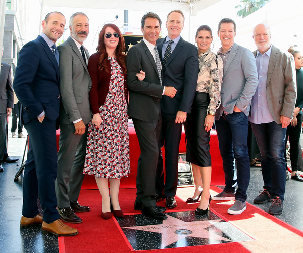 Eric McCormack Honored With Star On The Hollywood Walk Of Fame [eric mccormack honored with star on the hollywood walk of fame,social group,event,red,carpet,red carpet,flooring,management,businessperson,suit,employment,eric mccormack,max mutchnick,robert greenblatt,debra messing,david kohan,megan mullally,sean hayes,l-r,hollywood walk of fame]
