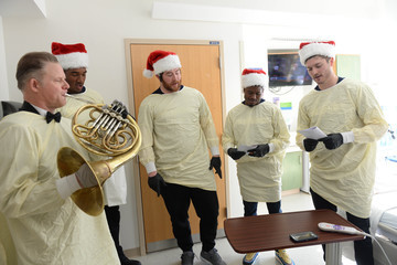 Eric Smith Boston Pops Play Holiday Concert For Boston Children's Hospital Patients And Families
