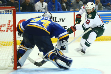 Eric Staal Minnesota Wild v St Louis Blues