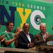 Erik Stover New York Cosmos Rings The Closing Bell At The NYSE