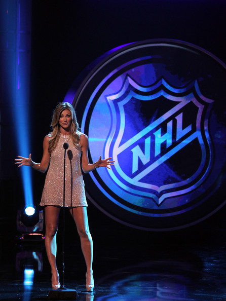 personality Erin Andrews presents an award during the 2012 NHL Awards    Erin Andrews Nhl Awards