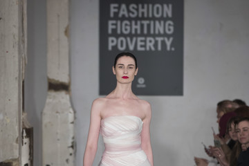 Erin O'Connor Fashion Fighting Poverty Catwalk Show