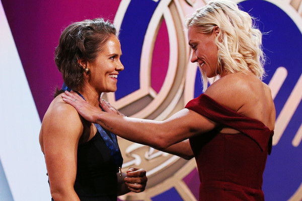 AFLW Awards [arm,shoulder,muscle,human body,event,competition,chest,competition event,performance,erin phillips,emma kearney,crows,aflw awards,aflw medal,afw awards,melbourne,australia,the peninsula,bulldogs]