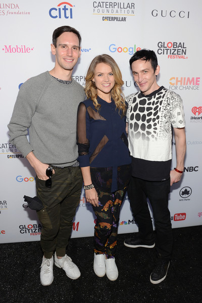 2015 Global Citizen Festival in Central Park to End Extreme Poverty by 2030 - VIP Lounge [fashion,event,footwear,fashion design,premiere,performance,style,taylor,actors,cory michael smith,erin richards,robin,end extreme poverty,l-r,central park,lounge,global citizen festival]