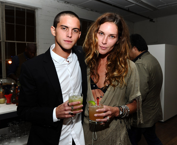 "Erin Wasson A guest and model Erin Wasson (R) attend the ""Band of Outsiders"" dinner party hosted by Dewars at the Band of Outsiders Loft on November 18, 2010 in Beverly Hills, California."