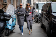 """Anna dello Russo attends Ermanno Scervino """"u2013 Street Style - Milan Fashion Week 2019 on February 23, 2019 in Milan, Italy."""