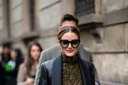 Olivia Palermo attends Ermanno Scervino  Street Style - Milan Fashion Week 2019 on February 23, 2019 in Milan, Italy.