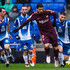 David Lopez Photos - Luis Suarez of FC Barcelona conducts the ball under pressure from Victor Sanchez (L), Sergi Darder (2nd L) and David Lopez (R) of RCD Espanyol during the La Liga match between Espanyol and Barcelona at RCDE Stadium on February 4, 2018 in Barcelona, Spain. - Espanyol v Barcelona - La Liga