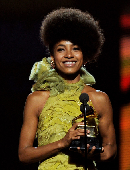 Esperanza Spalding Singer Esperanza Spalding accepts the Best New Artist Award during the 53rd Annual GRAMMY Awards held at Staples Center on February 13, 2011 in Los Angeles, California.