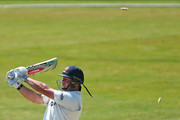 Jesse Ryder of Essex is bowled out by Mitchell Starc of Australia during day four of the tour match between Essex and Australia at The Essex County Ground on July 4, 2015 in Chelmsford, England.