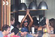 Actress Esther Anderson is seen at The Sandpit Cafe on Bondi Beach on May 22, 2011 in Sydney, Australia.