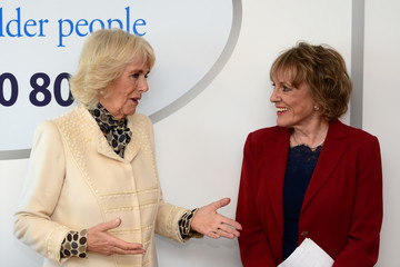 Esther Rantzen The Duchess of Cornwall Visits Lancashire