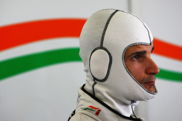 Vitantonio Liuzzi of Italy and Force India prepares to drive during practice for the European Formula One Grand Prix at the Valencia Street Circuit on July 25, 2010, in Valencia, Spain.
