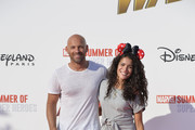 "Actor Franck Gastambide and actress Sabrina Ouazani attend the European Premiere of Marvel Studios ""Ant-Man And The Wasp"" at Disneyland Paris on July 14, 2018 in Paris, France."