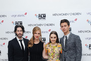 Director Jason Reitman, Producer Helen Estabrook, Kaitlyn Dever and Ansel Elgort attend the European Premiere of Paramount Pictures 'Men, Women & Children' at Odeon Covent Garden on October 9, 2014 in London, England.