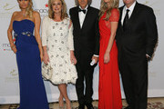 (L-R) Paris Hilton, Kathy Hilton, ESE President Elio D'Anna, Nicky Hilton, Rick Hilton attend European School Of Economics Foundation Vision And Reality Awards on December 5, 2012 in New York City.
