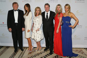 (L-R)Donald Trump, Melania Trump, Kathy Hilton, Rick Hilton, Nicky Hilton and Paris Hilton attend European School Of Economics Foundation Vision And Reality Awards on December 5, 2012 in New York City.