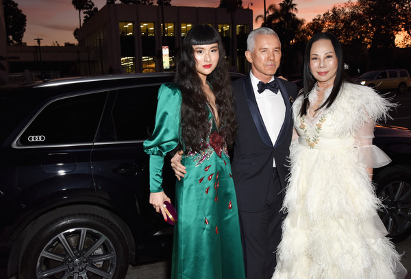 Audi At LACMA Art+Film Gala [luxury vehicle,fashion,lady,car,haute couture,event,dress,vehicle,formal wear,automotive design,eva chow,asia chow,baz luhrmann,l-r,lacma,california,los angeles,gucci,audi,lacma art film gala]