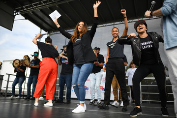 Eva Longoria Gina Rodriguez Florida Democratic Candidates And Supporters Hold March To The Polls In Kissimmee