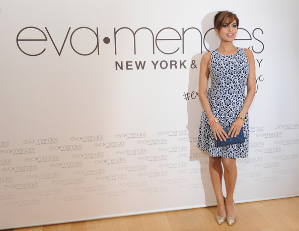Actress Eva Mendes and New York & Company launch the Eva Mendes for NY&C Spring 2014 collection with a pop-up shop at The Beverly Center on March 18, 2014 in Los Angeles, California.