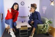 """Eva Chen (L) and Eva Mendes attend Eva Mendes x New York & Company """"Everyday Chic"""" Collection Launch on March 19, 2018 at the Facebook New York offices in New York City."""
