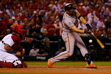 Evan Longoria San Francisco Giants  v St Louis Cardinals