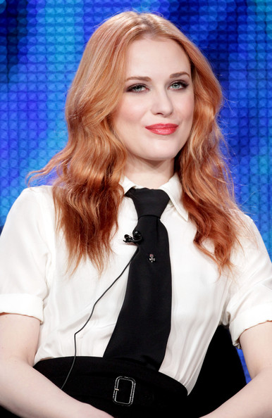 Evan Rachel Wood Actor Evan Rachel Wood speaks during the 'Mildred Pierce' panel at the HBO portion of the 2011 Winter TCA press tour held at the Langham Hotel on January 7, 2011 in Pasadena, California.