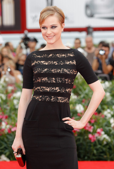 "Evan Rachel Wood Actress Evan Rachel Wood attends the ""Mildred Pierce"" premiere during the 68th Venice Film Festival at Palazzo del Cinema on September 2, 2011 in Venice, Italy."