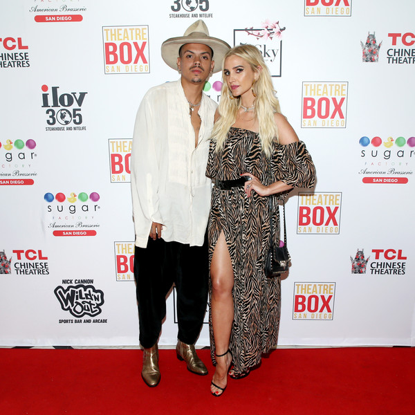 Evan Ross And Ashlee Simpson Ross Celebrate Birthday At Sky Rooftop Gardens And Lounge