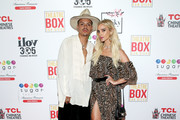 Evan Ross And Ashlee Simpson Ross Celebrate His Birthday At 5th & Sky Rooftop Gardens & Lounge And Sugar Factory At Theatre Box