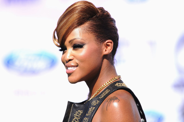 Rapper Eve arrives at the BET Awards '11 held at the Shrine Auditorium on ...