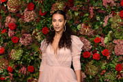 Maya Jama attends the Evening Standard Theatre Awards 2018 at the Theatre Royal on November 18, 2018 in London, England.