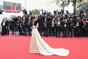"""Li Yuchun attends the screening of """"Everybody Knows (Todos Lo Saben)"""" and the opening gala during the 71st annual Cannes Film Festival at Palais des Festivals on May 8, 2018 in Cannes, France."""