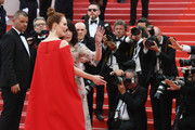"Actresses Isabelle Adjani (2ndL) and Julianne Moore (L) attend the screening of ""Everybody Knows (Todos Lo Saben)"" and the opening gala during the 71st annual Cannes Film Festival at Palais des Festivals on May 8, 2018 in Cannes, France."