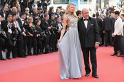 """Romee Strijd (L) and Fawaz Gruosi attend the screening of """"Everybody Knows (Todos Lo Saben)"""" and the opening gala during the 71st annual Cannes Film Festival at Palais des Festivals on May 8, 2018 in Cannes, France."""