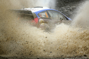 Evgeny Novikov FIA World Rally Championship Great Britain: Day 2