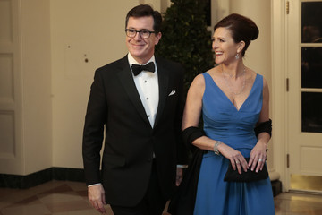 Evie Colbert Guests Arrive For White House State Dinner In Honor Of French President
