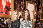 (L-R) Jennifer Ulrich and Alice Dwyer attends the exclusive dinner and exhibition of the Giambattista Valli x H&M Collection at Elisabethkirche on November 06, 2019 in Berlin, Germany.