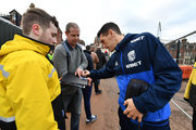 Gareth Barry of West Bromwich Albion signs autographs prior to the The Emirates FA Cup Third Round match between Exeter City and West Bromwich Albion at St James Park on January 6, 2018 in Exeter, England.