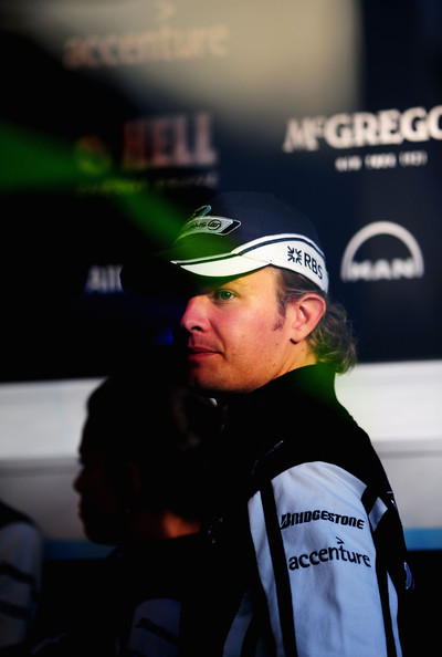 Nico Rosberg of Germany and Williams is seen in the paddock following qualifying for the Belgian Grand Prix at the Circuit of Spa Francorchamps on August 29, 2009 in Spa Francorchamps, Belgium.