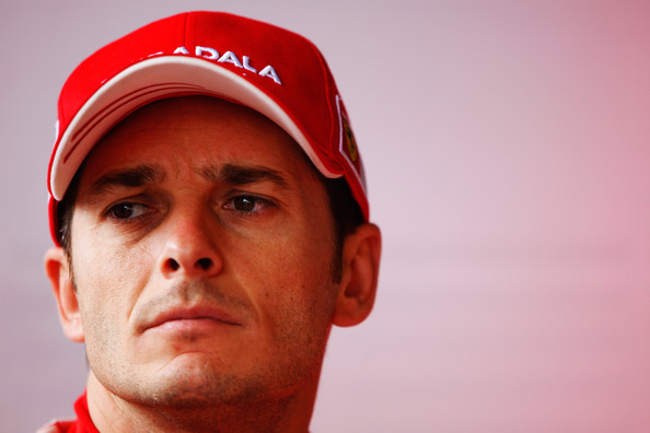 Giancarlo Fisichella of Italy and Ferrari prepares to drives in the rain delayed final practice session prior to qualifying for the Brazilian Formula One Grand Prix at the Interlagos Circuit on October 17, 2009 in Sao Paulo, Brazil.
