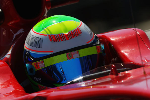 Felipe Massa of Brazil and Ferrari drives during practice for the Hungarian Formula One Grand Prix at the Hungaroring on July 24, 2009 in Budapest, Hungary.