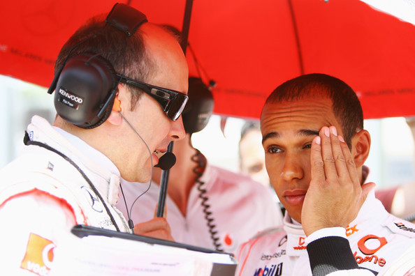 Lewis Hamilton of Great Britain and McLaren Mercedes is seen on the grid as he prepares to drive during the Hungarian Formula One Grand Prix at the Hungaroring on July 26, 2009 in Budapest, Hungary.