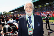 Tenor Placido Domingo poses for a photo with Red Bull Racing before the Formula One Grand Prix of Italy at Autodromo di Monza on September 3, 2017 in Monza, Italy.