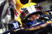 Mark Webber of Australia and Red Bull Racing prepares to drive during winter testing at the Circuito De Jerez on February 19, 2010 in Jerez de la Frontera, Spain.