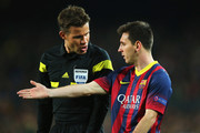 Lionel Messi and Felix Brych Photos - 1 of 3 Photo